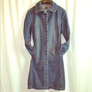 GAP VINTAGE Denim Jacket/ Duster/ Trench Coat